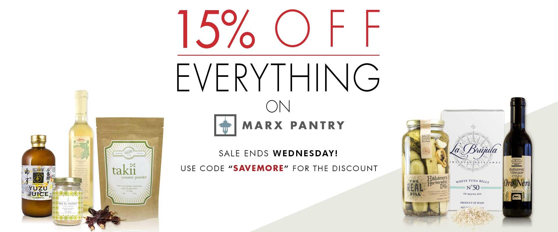 MarxPantry Sale